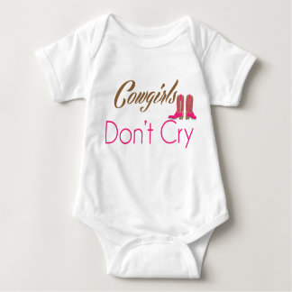 Cowgirls Don't Cry infant clothing Baby Bodysuit