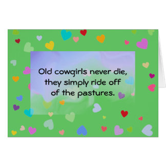 cowgirls humor greeting card