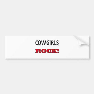 Cowgirls Rock Bumper Stickers