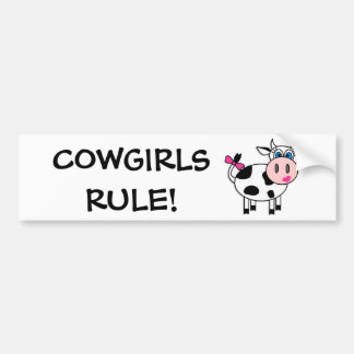 Cowgirls Rule Bumper Sticker