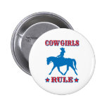 Cowgirls Rule (red/blue) 6 Cm Round Badge