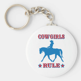 Cowgirls Rule (red/blue) Key Ring