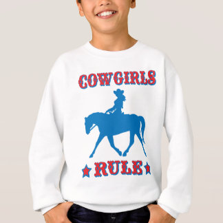 Cowgirls Rule (red/blue) Sweatshirt