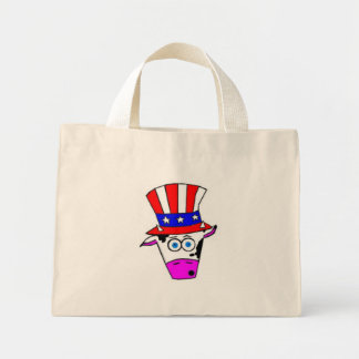 cowhead mini tote bag