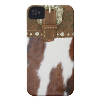 Cowhide and Leather IPhone 4 Case