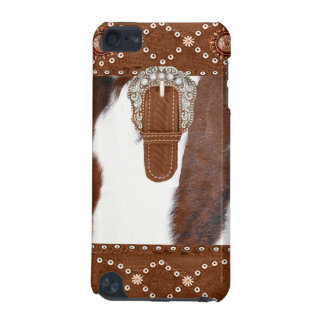 """Cowhide and Leather"" Western IPod Touch Case"
