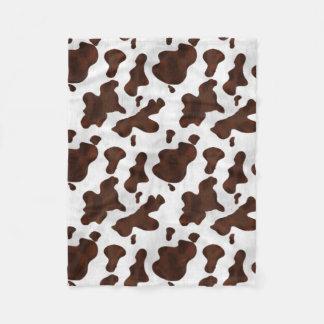 Cowhide Faux Hair Western Leather Spotted Pattern Fleece Blanket