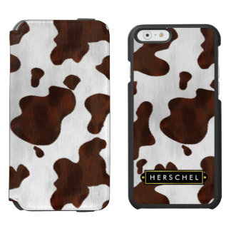 Cowhide Faux Western Leather Spotted Personalized Incipio Watson™ iPhone 6 Wallet Case
