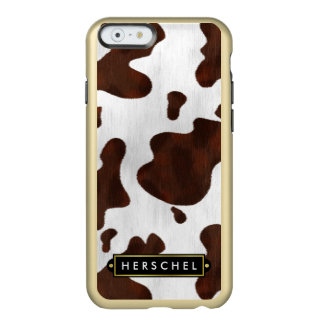 Cowhide Faux Western Leather Spotted Personalized Incipio Feather® Shine iPhone 6 Case