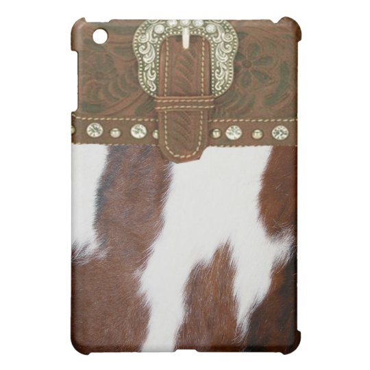 Cowhide & Leather Western IPad Case