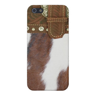 """Cowhide & Leather"" Western IPhone 4 Case"