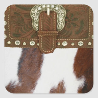 Cowhide & Leather Western Sticker