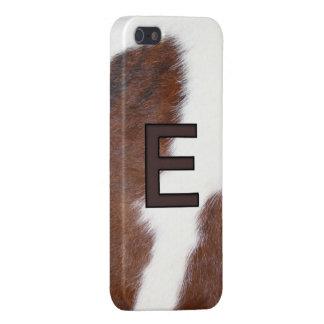 Cowhide Livestock E Initial Brand Iphone 5 Case