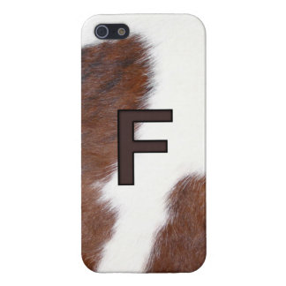 Cowhide Livestock F Initial Iphone 5 cover
