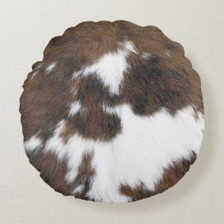 Cowhide Round Cushion