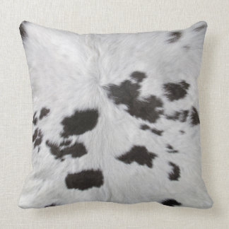 Cowhide Throw Cushion