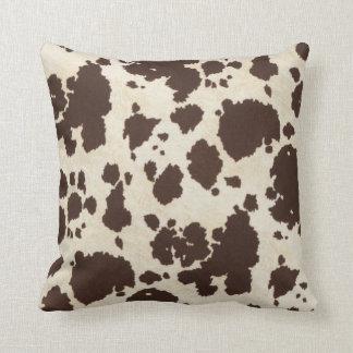Cowhide Throw Pillow Cushion