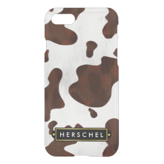 Cowhide Western Cow Spots Rustic | Personalized iPhone 7 Case