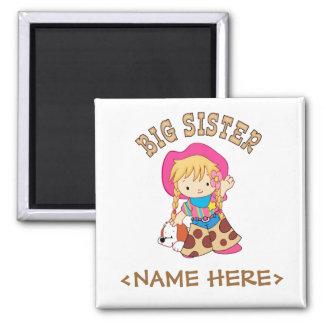 Cowkids Big Sister Square Magnet