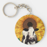 'COWmposition IV' Basic Round Button Key Ring