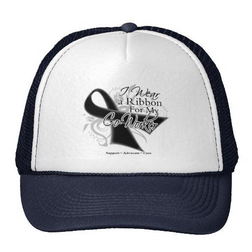 Coworker Ribbon - Melanoma Skin Cancer Trucker Hats
