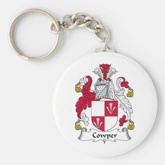 Cowper Family Crest Basic Round Button Key Ring