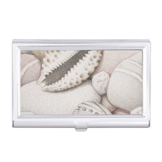 Cowrie Shell & Pebbles Business Card Holder
