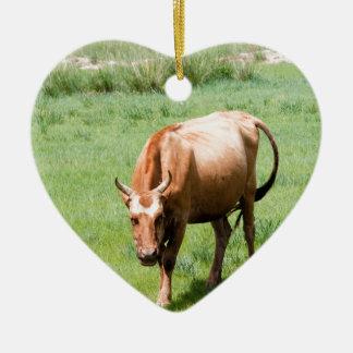cows and bulls christmas ornament