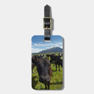 Cows and Mt Somers Luggage Tag