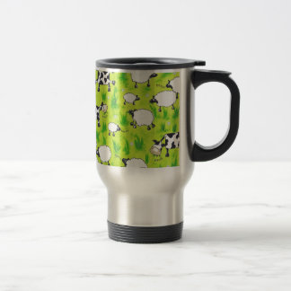 Cows and Sheep Travel Mug