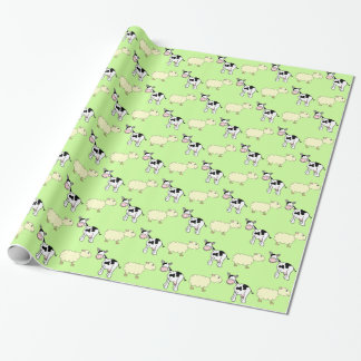 Cows and Sheep Wrapping Paper
