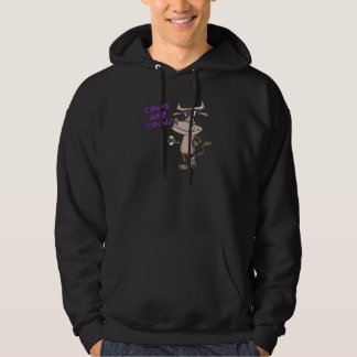 cows are cool funny animal cartoon hoodie