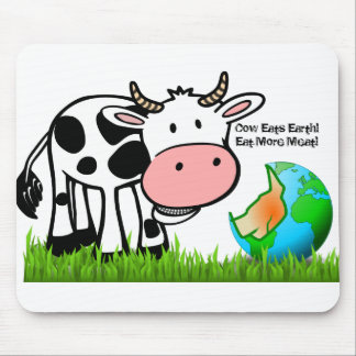 Cows are destroying the earth! Eat More Meat! Mouse Mat