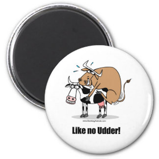 cows boinking 6 cm round magnet