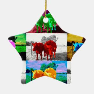Cows Christmas Tree Ornaments