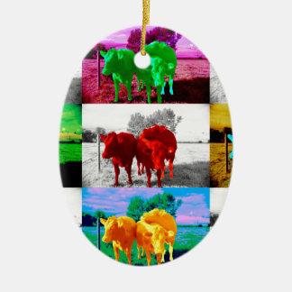 Cows Ornament