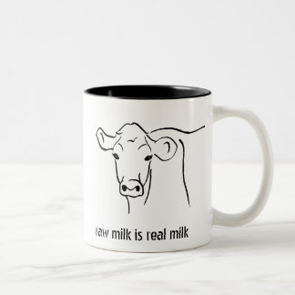 Cows for Raw Milk Two-Tone Coffee Mug