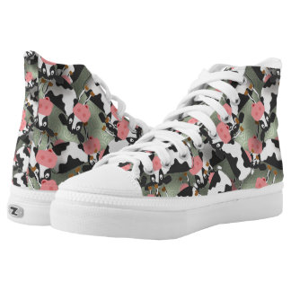 Cows High Top ZIPZ® Shoes Printed Shoes