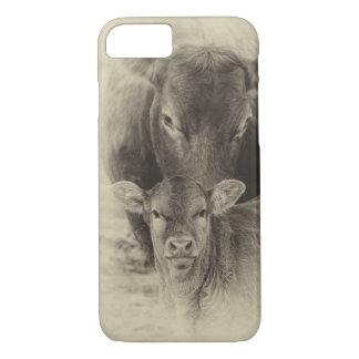 Cows in sepia iPhone 8/7 case