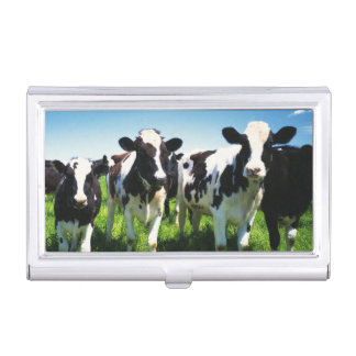 Cows in the field, Betsukai town, Hokkaido Business Card Holder