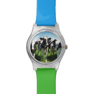 Cows in the field, Betsukai town, Hokkaido Wristwatch