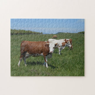 Cows In The Pasture Jigsaw Puzzle