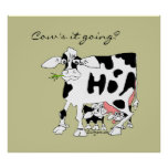 Cow's it Going? Poster Print