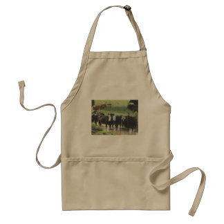 ~ Cows Lookin' Back ~ Adult Apron
