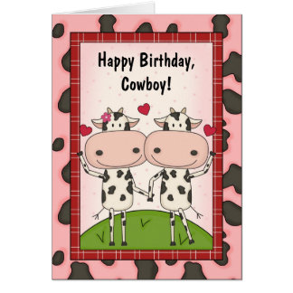 Cows Love Birthday Guys Card