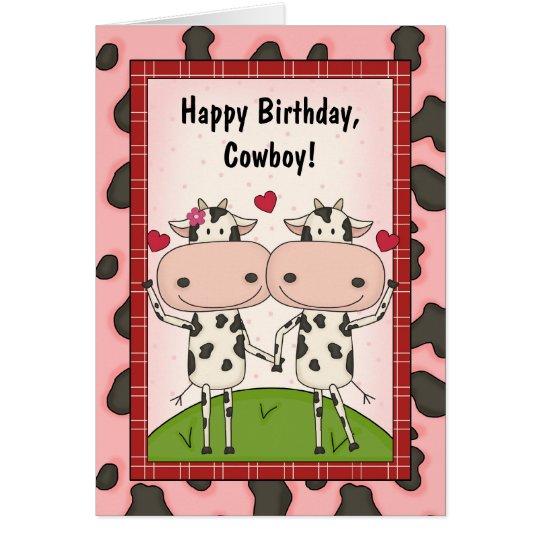 Cows Love Birthday Guys Card