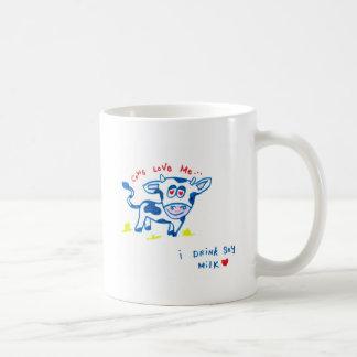 Cows Love Me... I drink soy milk Coffee Mugs