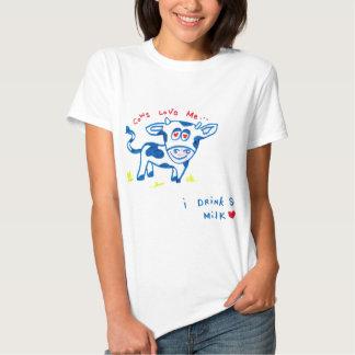 Cows love me... I drink soy milk Tshirts