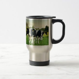 Cows love to stare travel mug