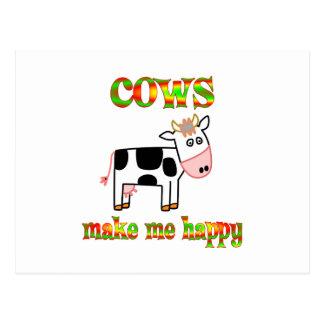 Cows Make Me Happy Postcard
